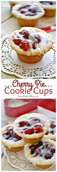Cherry Pie Cookie Cups | Lemon Tree Dwelling