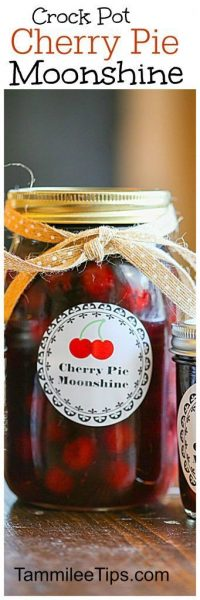 Crock Pot Cherry Pie Moonshine | Tammilee Tips