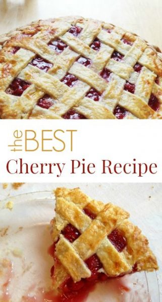 The Best Cherry Pie Recipe Ever | The Artful Parent