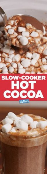 Slow Cooker Hot Cocoa by Delish
