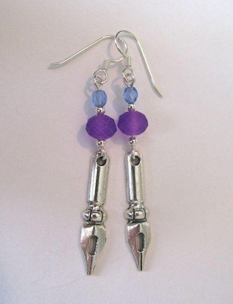 Fountain Pen-Nib Earrings by Lioness Elise