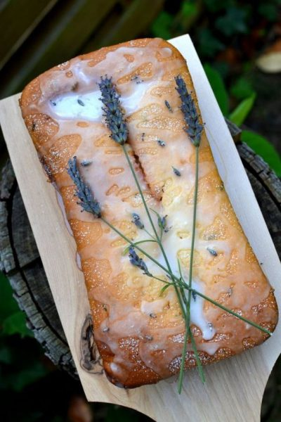 Lavender Lemon Loaf Cake by Spice in the City