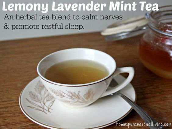 Lemony Lavender Mint Tea by Homespun Seasonal Living