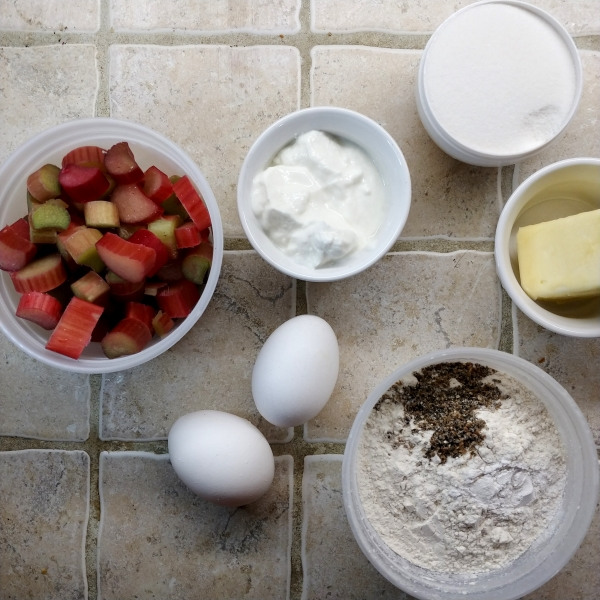 Cardamom Rhubarb Yogurt Pound Cake
