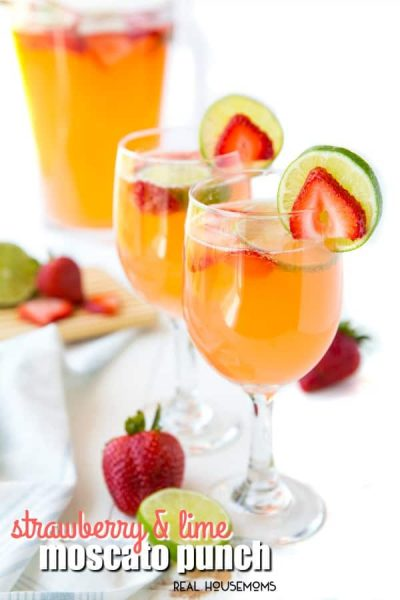 Strawberry & Lime Moscato Punch - Real Housemoms