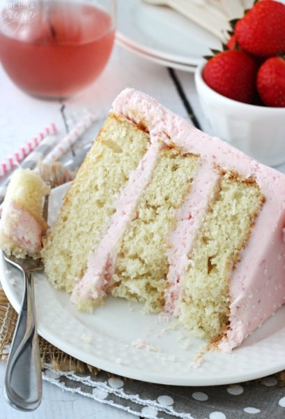 Strawberry Moscato Layer Cake - Life, Love & Sugar
