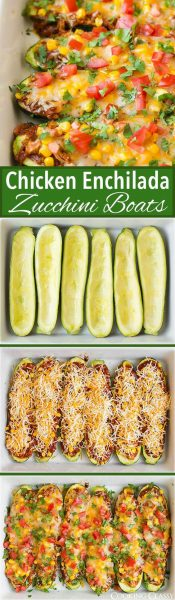 Chicken Enchilada Zucchini Boats Cooking Classy low carb