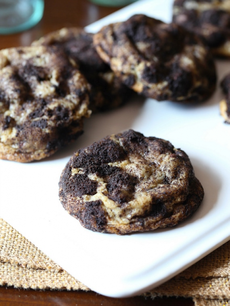 Dirty Chocolate Chip Cookies by Cookies & Cups