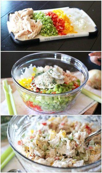 Homemade Ranch Chicken Salad Pinning Mama low carb