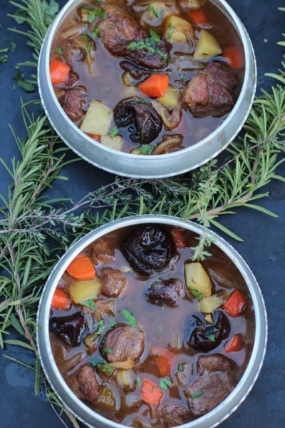 Hunger Games Lamb Stew with Dried Plums by Spinach Tiger