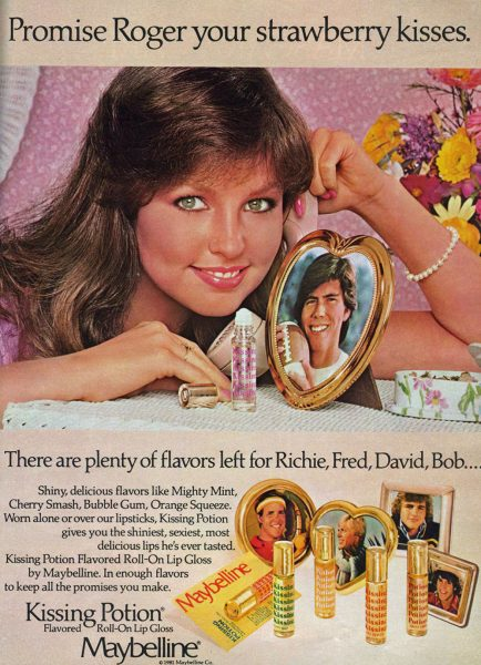 1970s Vintage Ad Kissing Potion lip gloss