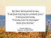 Scott Stabile fear quote