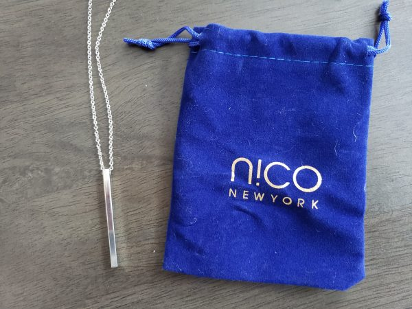 SinglesSwag - 3. Nico New York Silver Bar Necklace