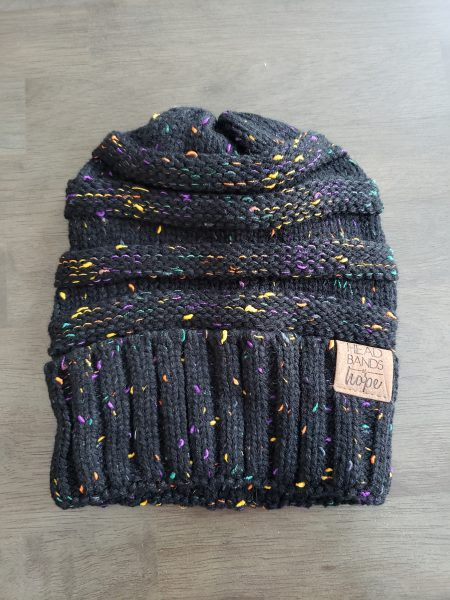 SinglesSwag - 5. Headbands of Hope Black Confetti Beanie