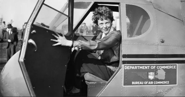 Amelia Earhart cockpit plane bureau of commerce