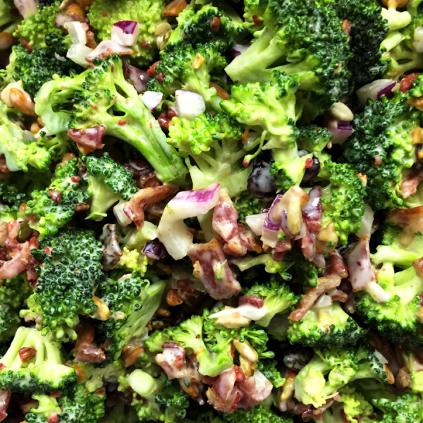 Bacon Broccoli Salad and Firework Bean Salad by Catastrophe Kitchen