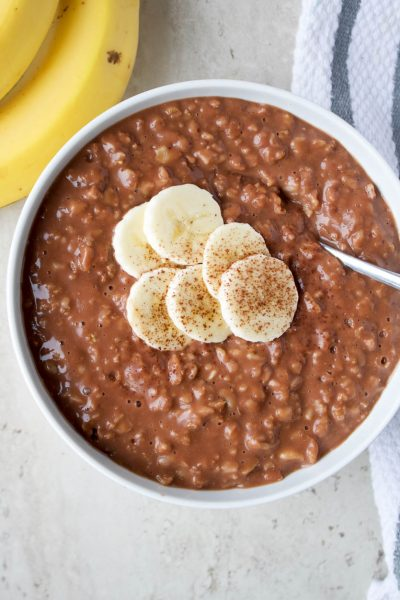 Chocolate Banana Oatmeal - Kay Nutrition