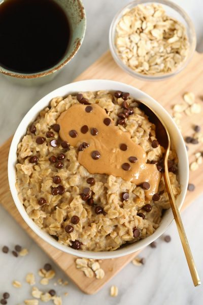 Cookie Dough Microwave Oatmeal - Fit Foodie Finds