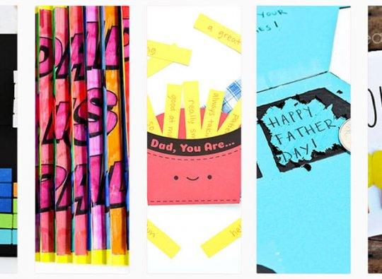 12 Handmade Fatherʻs Day Card Ideas