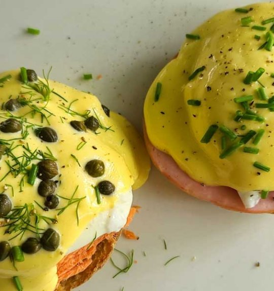 Eggs Benny Two Ways with Easy Blender Hollandaise